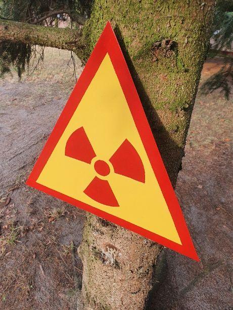 Znak PROMIENIOWANIE metalowy Czarnobyl