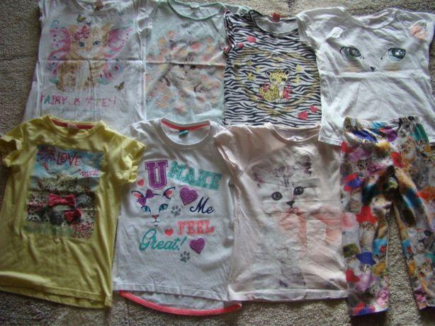 Ubranka dla dziewczynki z nadrukiem kota 110-122