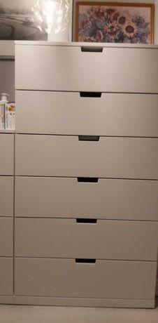 Biała komoda z 6 szufladami