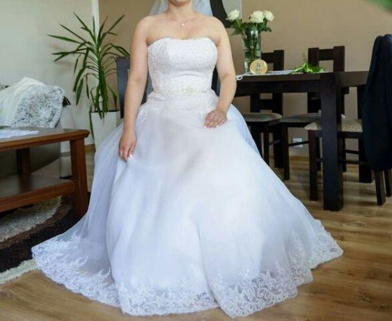 Suknia Ślubna!! Możliwość dopasowania!! Link klip weselny do wgladu