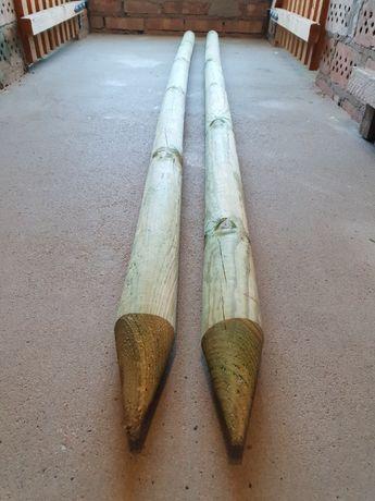 Drewniane słupki
