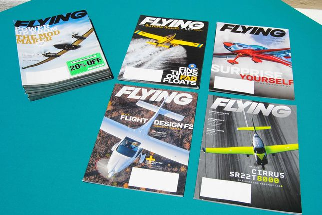 "Lote de 19 revistas da prestigiada ""Flying"""