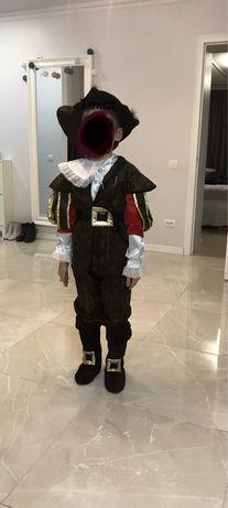 Новогодний костюм кот в сапогах или мушкетер, 2 в 1