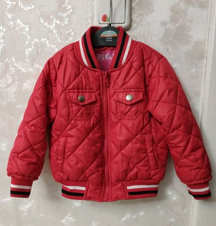 Крутая демисезонная куртка бомбер Punkidz 80-98р. next