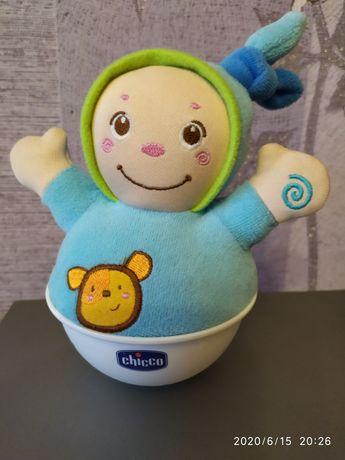 Неваляшка chicco,игрушка чико,музыкальная развивающая погремушка
