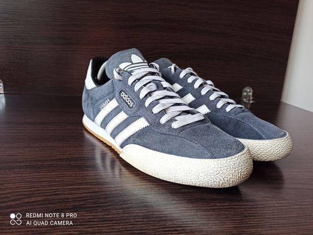 Кроссовки кеды adidas Samba Super Suede 019332. синие. Р 45 на 29 см.