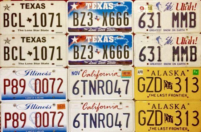 Парные номерные знаки США . Авто Номера USA