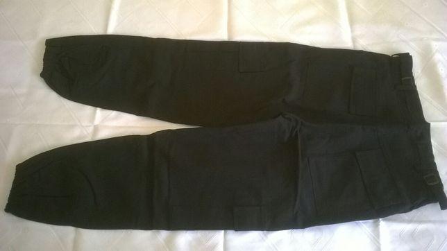 Spodnie BOJÓWKI męskie czarne 92/112 cm.NOWE!!!