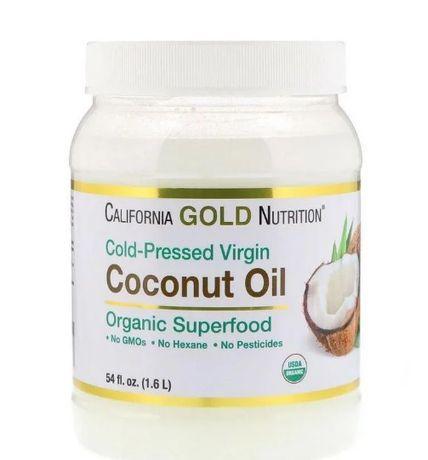 Кокосовое масло 1.6л California Gold Nutrition Organic Extra Virgin