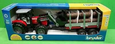 Brinquedo Bruder 02046 Trator Massey F. c/atrelado e frontal - NOVO