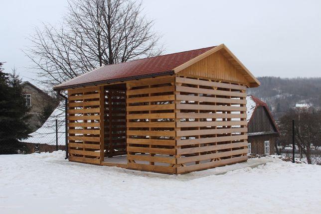 Drewutnia - wiata na drewno - zadaszenie - domek narzędziowy