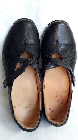 Туфли кожаные стелька ортопедическая 23 см