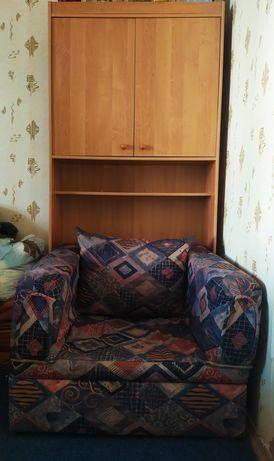 Кресло кровать со шкафом и пуфиками