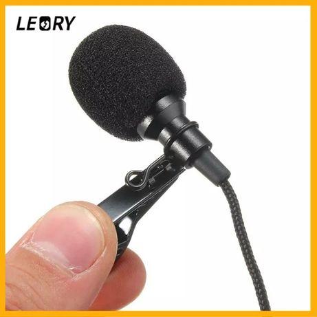 Петличный микрофон Leory (петличка, гарнитура, студийный, 3.5мм новый)