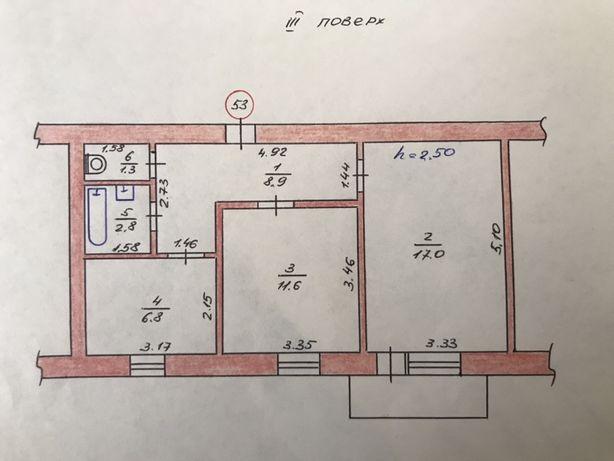 Квартира 2х кімнатна Ізяслав