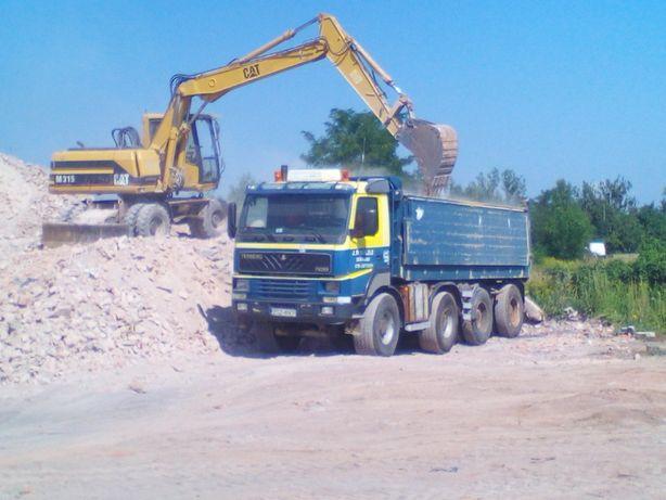 Koparka wywrotka pawłowice wrocław ziemia piasek kamień gruz drogi