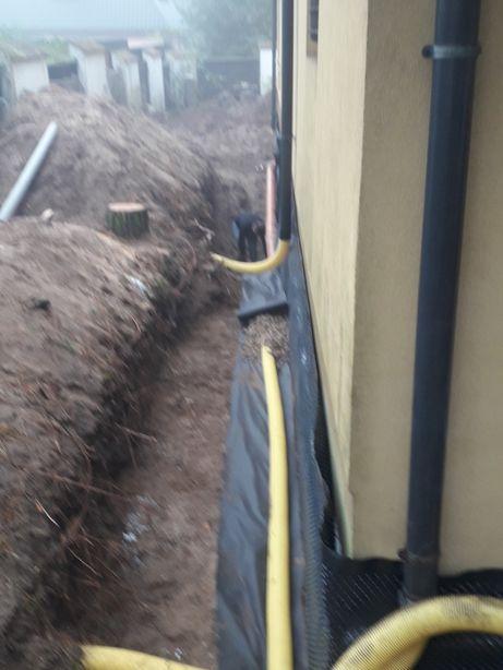 Odwodnienia terenu- drenaze - studnie chłonne