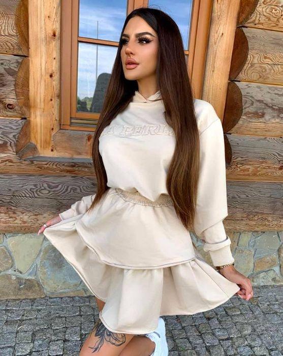 komplet dresowy bluza + spódniczka DWA KOLORY StyloVia Boutique!!! Kielce - image 1