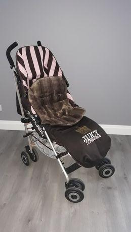 Wózek spacerówka Maclaren Juciy Couture śpiwór parasolka