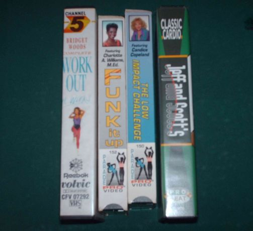 Cassstes VHS desporto vintage