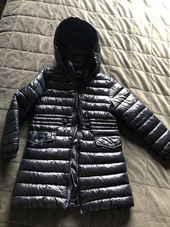 Plaszcz  przejsciowy  wiosenny kurtka zara 122 stan idealny granatowy