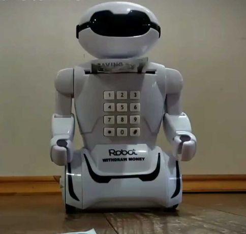Робот копилка. Сейф с купюроприемником. Ночник