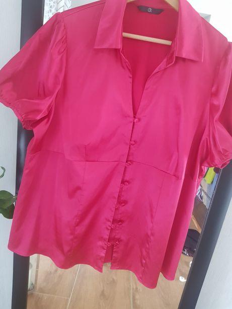 Bluzka rozowa 48 xxxxl malinowa elegancka