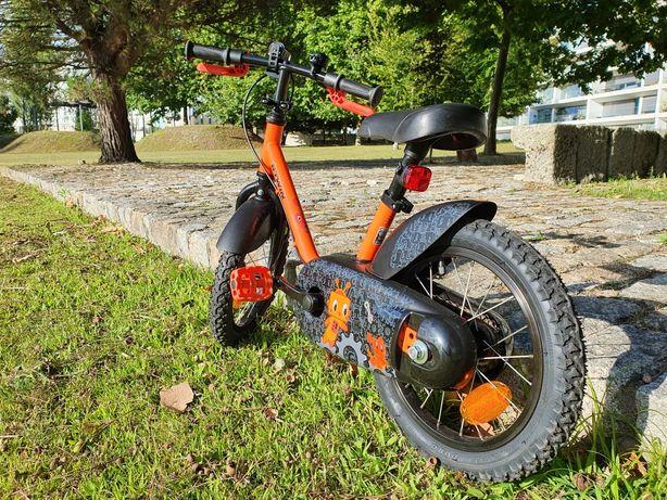 Bicicleta de criança B-twin 3-4,5 anos 500 robô 14 polegadas