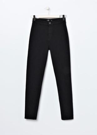 Джинсы черные прямые H&M