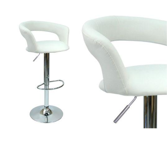 Krzesło obrotowe Malibu biały wygodny hoker do kuchni jadalni