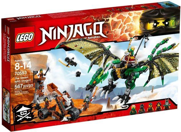 LEGO Ninjago 70593 Zielony smok NRG Lloyd Cole NOWE Lublin