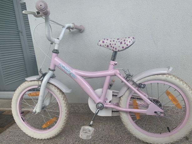 "Bicicleta menina 16"" rosa"