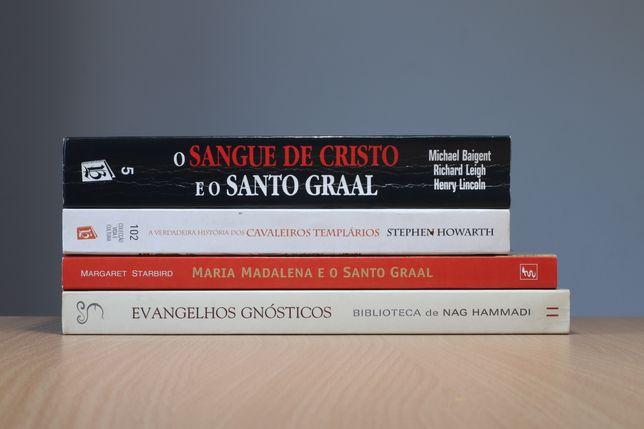 """Pack 3 Livros usados inspirados no livro """"O Código Da Vinci"""" (PT)"""