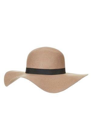 Шляпа topshop H&M Zara коричневая с широкими полями шерсть