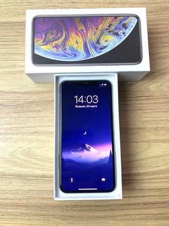 Идеал iPhone Xs MAX Silver 64 gb