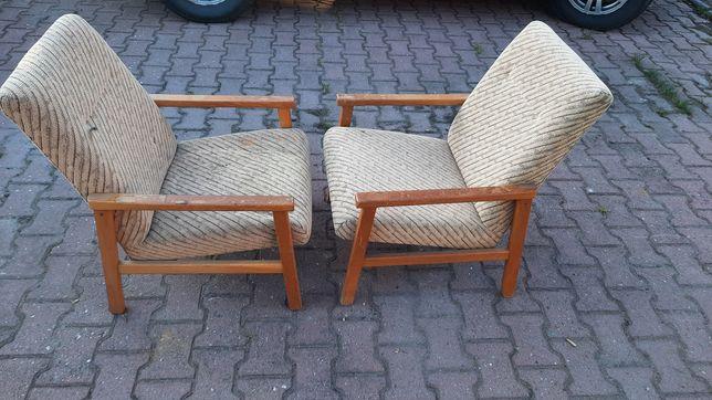 Fotele vintage mid century loft prl lata 60