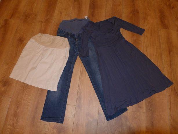 ubrania ciążowe rozm. M spodnie, spódnica i sukienka