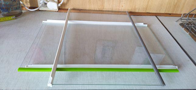 Półka szklana z plastikiem do lodówki 49cm x 32cm safeglass 3 sztuki