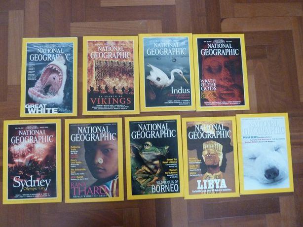 34 revistas National Geographic em inglês 2000 a 2003