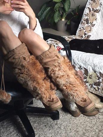 Сапоги на каблуке с мехом