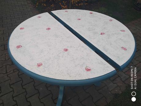 Stół drewniany w stylu shabby , vintage