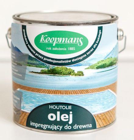 Olej impregnujący do drewna koloryzujący Houtolie Koopmans 2,5L