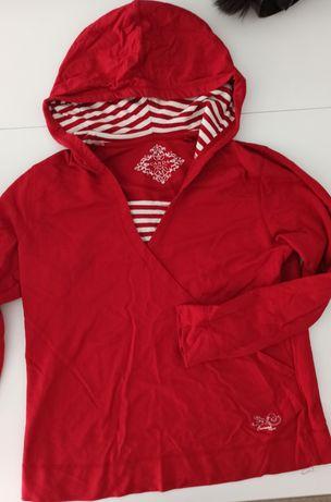 Bluza czerwona z kapturem