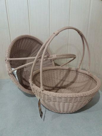 Плетённая корзина для яблок и фруктов