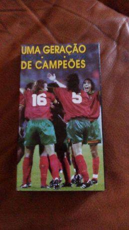 """Cassete VHS """" Geração de Ouro """" Futebol"""