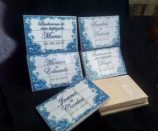 Azulejos magnéticos lembranças, casamentos, baptizados...