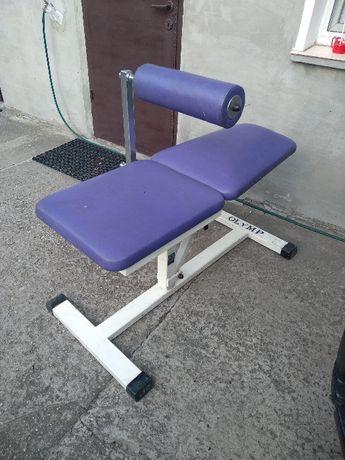 Ławka płaska z blokadą brzuch plecy rehabilitacja OLIMP OLYMP