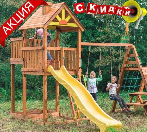 Лучшая пластиковая горка детская для домиков 2.2м 3м Hapro КВТ