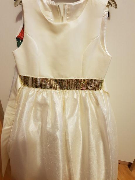 Biała  sukienka 122 128