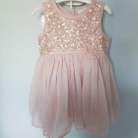 ! Śliczna sukienka r.80